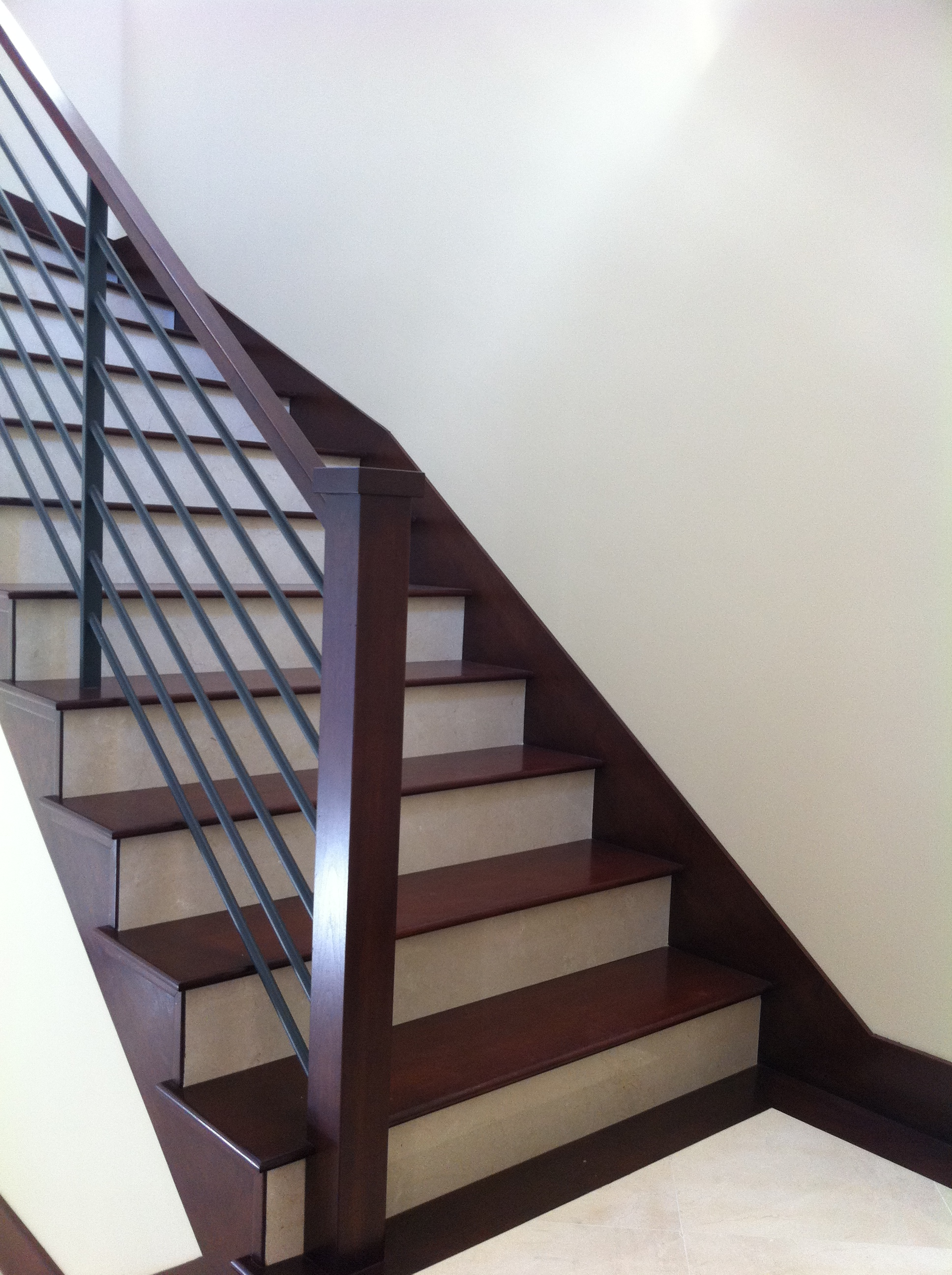 Wood stairs baseboards - Stairs with tile and wood ...