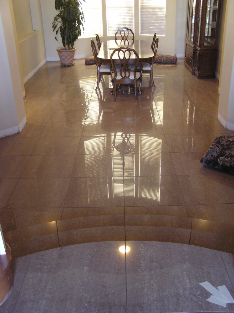 Large Polished Stone Floor