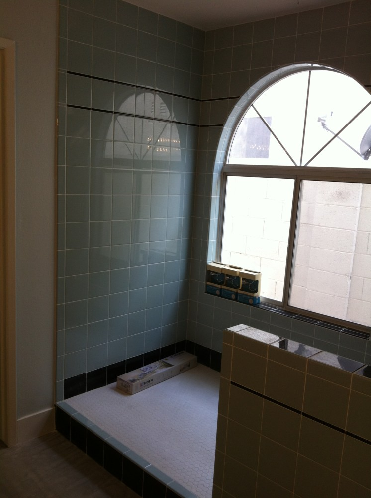 Polished Tile Bathroom
