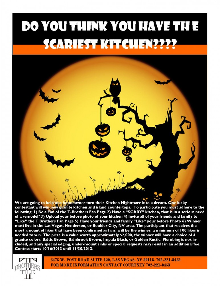 Scary Kitchen Flyer